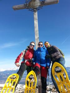 """Gipfelfoto auf Berg """"Campill"""" (2.190 m) auf der Rodenecker-Lüsner Hochalm"""